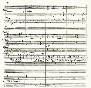 Theatre music - Arthur Sullivan's manuscript of the Act 1 finale of The Yeomen of the Guard (1888)