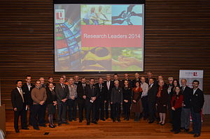 York University - York researchers at the York University Research Leaders 2014 event.