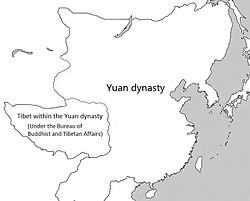 Location of Tibet under Yuan rule