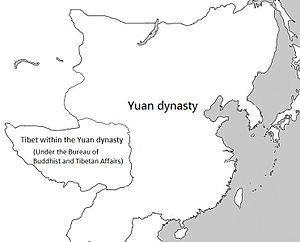 Sakya - Tibet within the Yuan dynasty under the top-level department known as the Bureau of Buddhist and Tibetan Affairs (Xuanzheng Yuan).