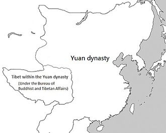 Mongol invasions of Tibet - Tibet within the Yuan dynasty under the top-level department known as the Bureau of Buddhist and Tibetan Affairs (Xuanzheng Yuan).