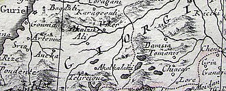 Akhalkalaki - The fragment from the map By Antonio Zatta, published in Venice in 1784. The map shows Akhalkalaki, Georgia