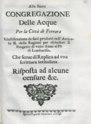 Zendrini - Giustificazione de fatti prodotti nell'Articolo 2. delle ragioni per escludere il progetto di unire Reno al Po' di Lombardia, 1717 - 2058818 F.tif