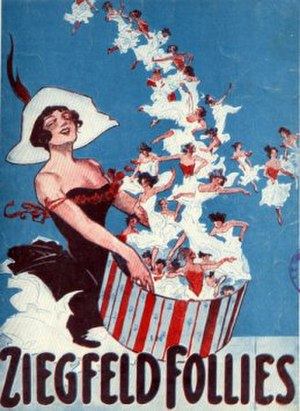 1912 in music - Promotional artwork for 1912 Ziegfeld Follies