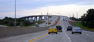 U.S. Route 23 in Michigan - Image: Zilwaukee Bridge September