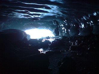 Zinal Glacier - View from inside the glacier