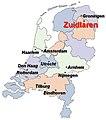 Zuidlaren on the map of the Netherlands - 3rd version.jpg