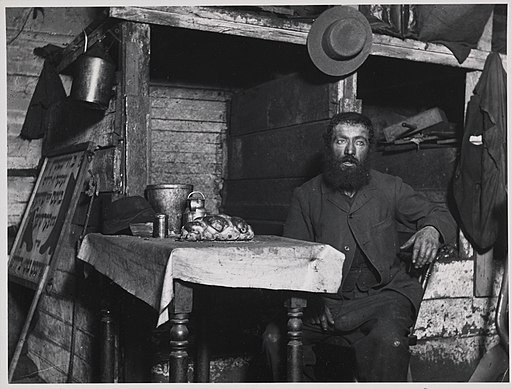 """Ready for Sabbath Eve in a Coal Celler"" A Cobbler in Ludlow Street (5389949256)"