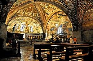 Interno della basilica inferiore