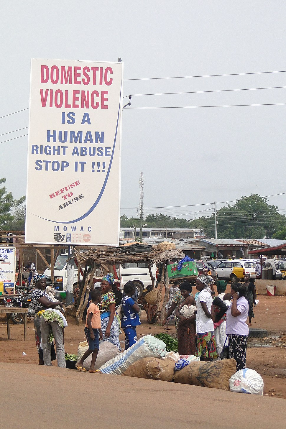 (4) Ghana Domestic Violence is a Human Right Abuse Poster