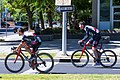 (L-R) Andrea Guardini and Vegard Stake Laengen of UAE Team Emirates before Stage 1 in Sacramento (34997949995).jpg