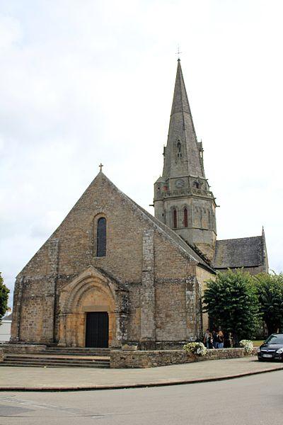 Église Notre-Dame-de-Joie de Merlevenez, France. Vue générale sud -ouest