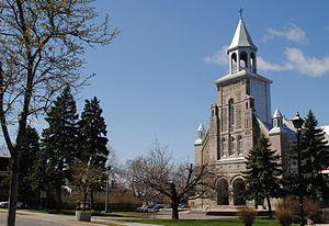 Saint-Leonard, Quebec - Saint-Léonard church on Jarry Street.