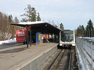Østerås (station) railway station in Bærum, Norway