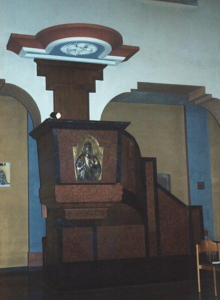 Überherrn, church St. Bonifatius, the pulpit