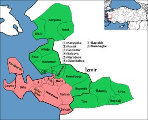 İzmir (electoral districts) - Image: İzmir electoral districts