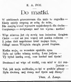 Życie. 1898, nr 22 (28 V) page10 Poe.png