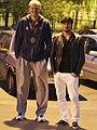 Антон Понкрашов и Андрей Батычко на съемках клипа Любовь над облаками.jpg