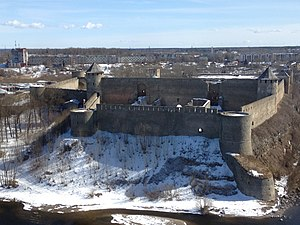 Ivangorod Fortress - View from the opposite riverbank