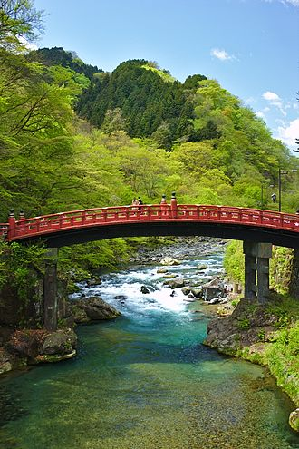 Nikkō, Tochigi - The Shinkyo bridge, one of the symbols of Nikko.