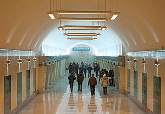 Abay (Almaty Metro) - Image: Станция Абай
