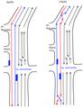 Схема движения на 14-й Линии в Ростове-на-Дону с левосторонними трамваями.png
