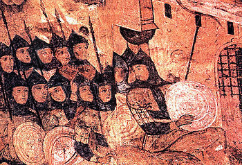 The Rus under the Walls of Constantinople, medieval Russian icon