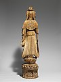隋-唐 彩繪石雕觀音菩薩像(石灰岩)-Bodhisattva Avalokiteshvara (Guanyin) MET DP170107.jpg