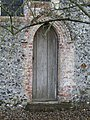 -2020-11-27 Gothic arched doorway on the north facing elevation, St Mary's, Antingham.JPG