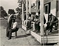 -Open-Air Barber at Work and Waiting Customers before Mileston, Mississippi, Post Office- MET DP106363 1987.1100.260.jpg