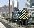0-6-0 no. 08536 shunts in the parcels sidings at Leicester station, Nigel Tout, July 1985.jpg