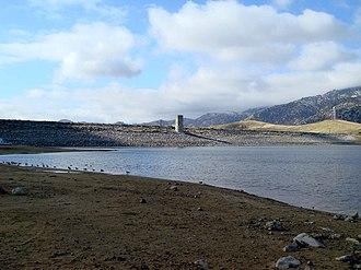 Isabella Dam - Auxiliary Isabella Dam, with Lake Isabella at its base.