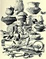 01898 Kronprinzenwerk, Vorgeschichte Galiziens, Waffen, Schmuck, Geräte aus der Bronzezeit.png
