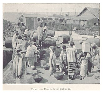 Dakar - A public water well, 1899.