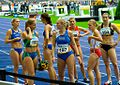 100 metres race winner Sina Schielke (192) and the other Runners - ISTAF 2006 - Berlin, 3 September.jpg