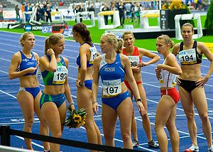 Sportswear (activewear) - International level women athletes at ISTAF Berlin, 2006