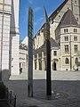 1010 Minoritenplatz - Erde Wasser Feuer Luft-Skulptur von Helmut Margreiter IMG 6833.jpg