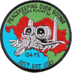 104th Fighter Squadron - Operation Deny Flight 1994 patch.png