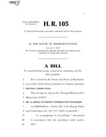 116th United States Congress H. R. 0000105 (1st session) - Energy Efficiency Free Market Act of 2019.pdf