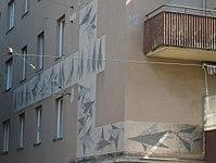 1170 Güpferlingstraße 4 Lascygasse 30-34 - Mosaik Vögel von Peter Perz 1958 IMG 3968.jpg