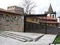138 Part posterior del palau de Revillagigedo i campanar de San Juan Bautista (Cimavilla, Gijón).jpg