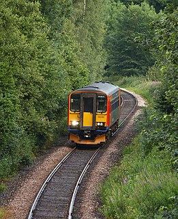 Derwent Valley line Matlock to Derby railway line