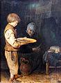 1648 ter Borch Alte Frau und Knabe bei einem bescheidenen Mahl anagoria.JPG