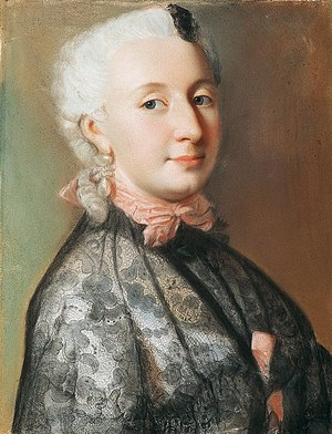 Wilhelmine of Prussia, Margravine of Brandenburg-Bayreuth - portrait by Jean-Étienne Liotard