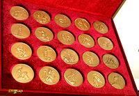 1812-ci il Vətən müharibəsinin 200 illiyinə həsr olunmuş xatirə medallar dəsti.JPG