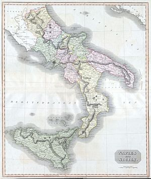 This fascinating hand colored 1814 map by Edin...