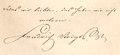 1850er Jahre circa Klindworth's Hof-Druckerei Faksimile Friedrich Voigts Sinnspruch und Unterschrift.tif