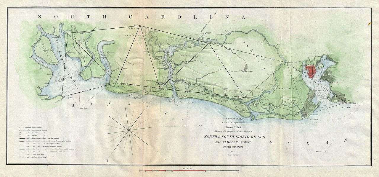 Navigation Map For Edisto Island