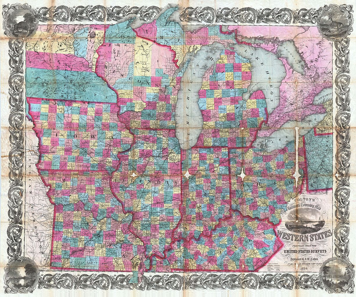 File Colton Pocket Map Of Ohio Michigan Wisconsin Iowa - Us map states kentucky