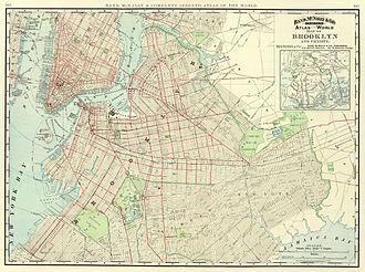 Putnam Avenue Line - Image: 1897 Brooklyn map
